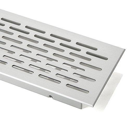 SO-TECH® Lüftungsgitter Lochgitter Belüftungsgitter Oval - Alu (EV1) - 250 mm