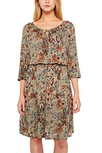 edc by ESPRIT Damen 089Cc1E021 Kleid, Beige (Pale Khaki 265), (Herstellergröße: 36)
