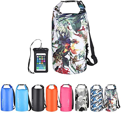 OMGear Waterproof Dry Bag Backpack Waterproof Phone Pouch 40L/30L/20L/10L/5L Floating Dry Sack for Kayaking Boating Sailing Canoeing Rafting Hiking Camping Outdoors Activities (camouflage1, 30L)