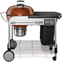 Weber 15501001 Performer Deluxe Charcoal Grill, 22-Inch, Touch-N-Go gas ignition system, Copper