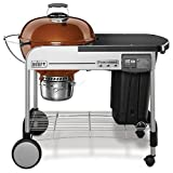 Weber 15501001 Performer Deluxe Charcoal Grill, 22-Inch, Touch-N-Go gas ignition system, Copper…