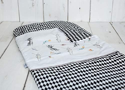 Sango Trade, Nap Mat Slumber torba prześcieradło z gumką zestaw śpiworek i poduszka na poduszkę Mat Slumber królik i szopa pracz, rozmiar: 115 x 70