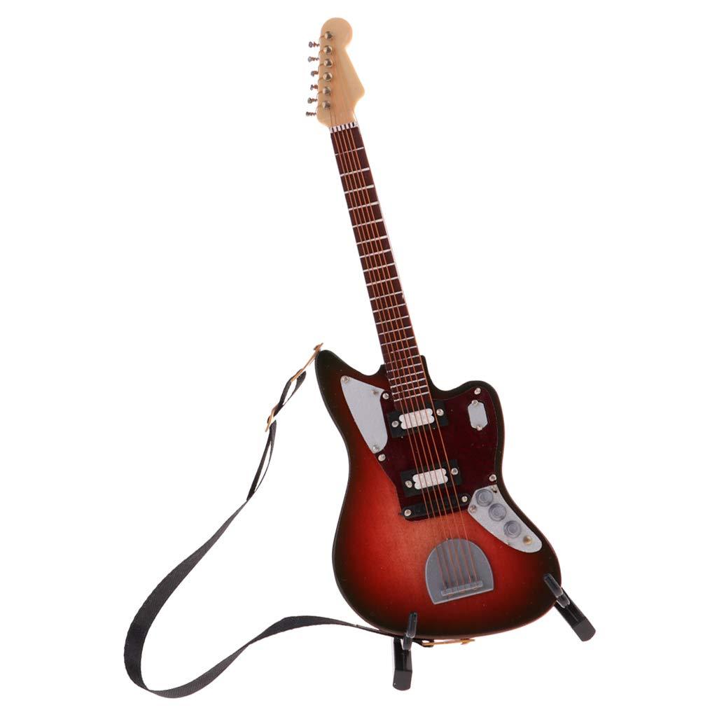 Amazon.es: F Fityle Modelo Guitarra Eléctrica en Miniatura para ...