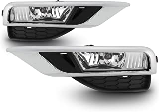 ACANII - For 2015-2016 Honda CR-V CRV Fog Lights Bumper Lamps w/Switch Assembly Replacement Driver & Passenger Side