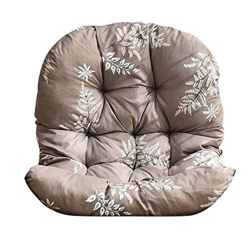 Miwaimao Swing Hanging Basket Cushion Printing Hanging Egg Chair Rocking Chair Cushion Sofa Cushion Home Gardens,B