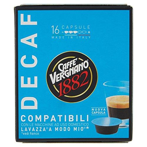 16 Capsule Caffè Vergnano 1882 Decaffeinato Compatibili Lavazza a Modo Mio