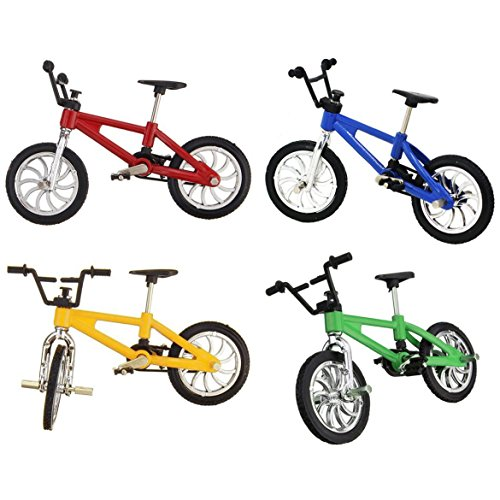 4 Pack Miniature Finger Mountain Bike Excellent Functional Metal Toys Mini Extreme Sports Finger Bicycle Cool Boy Toy Creative Game Gift Toy