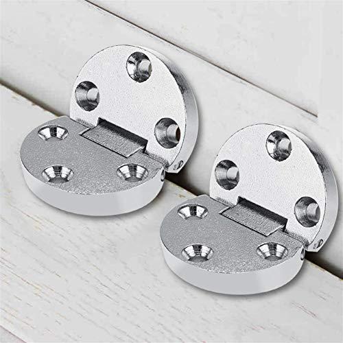 2pcs Tabla Flap bisagras de aleación de zinc autoportante mesas plegables Tabla Bisagras Inicio Flap muebles oval puerta del hardware Bisagras