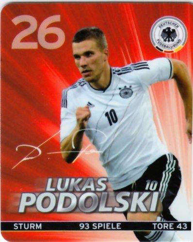 REWE DFB 2012 Sammelkarte - Nr. 26 Lukas Podolski - NEU