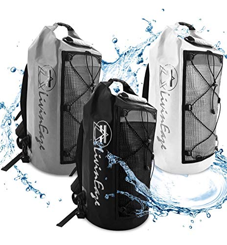 Premium Waterproof Backpack Dry Bag - 40L - Men Women - Outdoor Sports Bag Motorcycle Riding Bag Skateboarding Camping Hiking Kayaking Rafting Boating Hunting Fishing Surfing Climbing (Grit Gray)