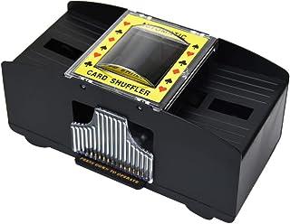AiComa シャッフルマシーン 自動 2デッキ 時間短縮 不正行為防止 トランプ カード カードゲーム