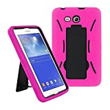 KIQ Galaxy Tab A 7.0 Case T280 2016, Heavy Duty Impact Drop Protection Dual-Layer Case Cover with Stand for Samsung Galaxy Tab A 7 inch SM-T280 SM-T285 (Hybrid Hot Pink)