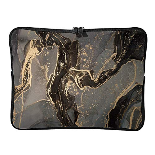 Daily Marble Texture Ink Laptop Bags Premium Scratch Resistant Modern Style Tablet Cases Suitable for Indoor White5 10 Inch
