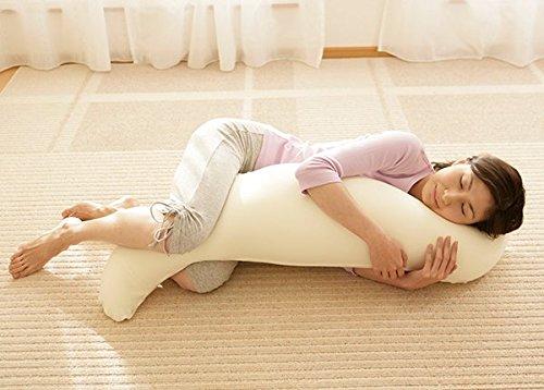 王様の抱き枕 アイボリー (専用カバー付)W30×D20×H110cm