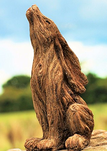 HH Home Hut Large Garden Ornament March Hare Rabbit Animal Sculpture outdoor Wood Effect 18'