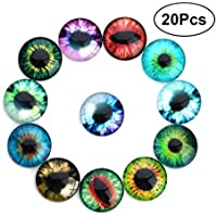 SUPVOX 20 unids Glass Eyes Animal Doll Toy Eyes para DIY Scrapbooking Crafts Projects Doll Animal Eyes Fabricación de joyas 20mm L