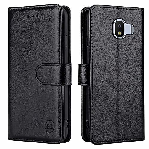 xinyunew Handyhülle für Samsung Galaxy J2 Pro 2018 Hülle,Hülle Handyhülle iPhone Leder Flip Hülle Ständer PU Brieftasche Schutzhülle für Samsung Galaxy J2 Pro 2018,Schwarz