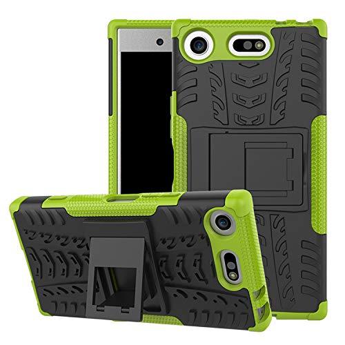 betterfon | Outdoor Handy Tasche Hybrid Case Schutz Hülle Panzer TPU Silikon Hard Cover Bumper für Sony Xperia XZ1 Compact Grün