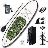WAWZNN Tabla Padel Surf Sup Hinchable Kit de Tabla Surf Inflable 10ft, Carga 150 kg con Paleta de Aluminio, Mochila, Bomba de Alta Presión, Cuerda de Pie, Bolsa Impermeable para Teléfono
