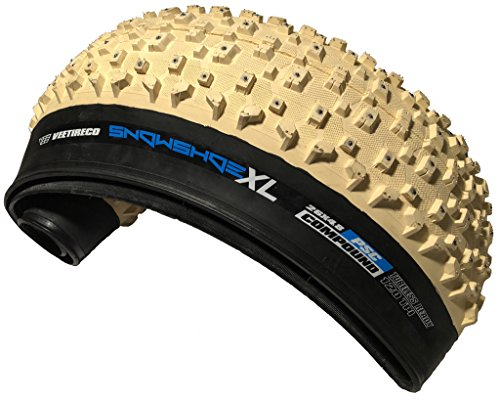 Vee - Tire 26x4.8 Snow Shoe XL Studded Fat Tires FB White Pure Silica Compound Tubeless Ready