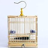 DXIUMZHP Jaula pajaros Jaula para pajaros Jaula Agapornis Jade Bird Acacia Bird Cage Accesorios para Jaulas De Pájaros De Jaula De Pájaros Hecha A Mano Jaula Cuadrada De Bambú Índigo