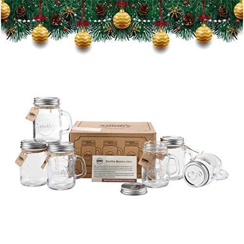 vasetti di vetro decorati per Natale