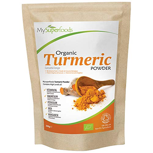 Organic Turmeric Powder (200g), The Best Premium Grade Curcumin, Every Batch Lab Tested for Purity, by MySuperfoods