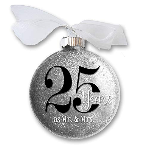 Firefly Wishes 25th Wedding Anniversary Christmas Ornament, Gift for Married Couple