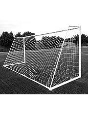 Aoneky Voetbalnet 7,3x2,4m/ 3x2m/ 3,6x1,8m/ 1,8x1,2m/ 2,4x1,8m, Touw 2mm - 3mm | Soccer Goal Net Vervanging van Het Voetbalnet, Zonder Frame