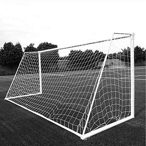 Aoneky Red para Portería de Fútbol Mini/Grande - 7.3m×2.4m, 3mm, Red Portátil de Reemplazo para Formación Práctica Entrenamiento Partido, Accesorios de Deportes al Aire Libre, Blanco, Sin Marco