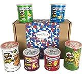 scatola regalo selezione patatine pringles premium - include pizza, texas bbq, jalapeño e tanti altri - cesta in esclusiva per burmont's