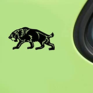 Pegatinas Coche Racing 17.2Cmx8.6Cm Fierce Saber Toothed Tiger Decor Car Sticker Decal Car Door Accessories Car Stickers