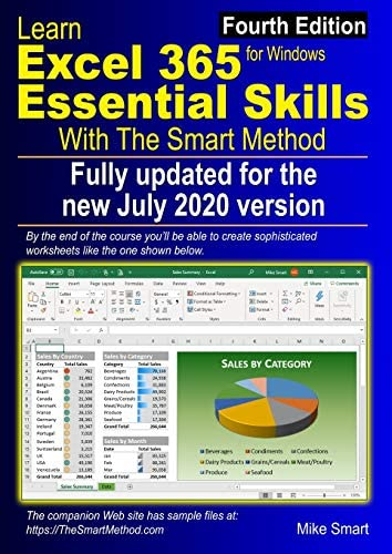 Learn Excel 365 Essential Skills with The Smart Method Fourth Edition updated for the Jul 2020 product image