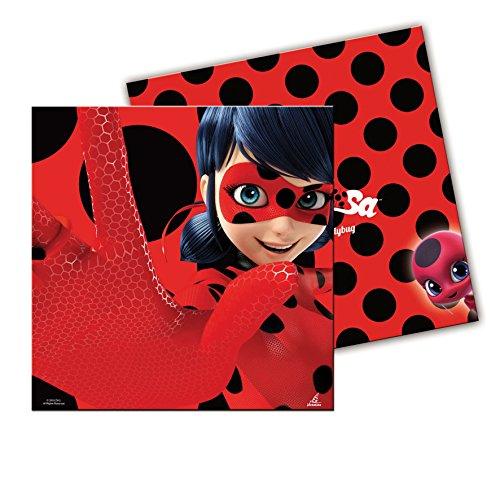 0920, pak 20 papieren servetten Lady bug, voor feesten en verjaardagen, papieren product