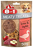 Freeze Dried Meaty Treats with Duck and Apple All the meaty goodness preserved No sugar, No colourants, No flavour enhancers, No preservatives, No GMOs Gluten and grain free formula Low fat