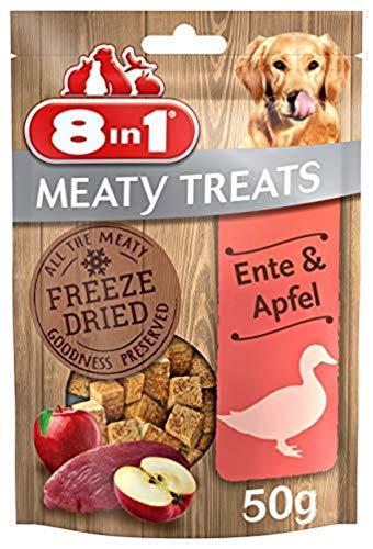 8in1 Meaty Treats, mrożone piesie smakołyki z kaczką i jabłkiem, nie zawierają zbożu i cukru, opakowanie 50 g