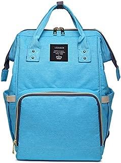 Fashion Mummy Maternity Nappy Bag Brand Large Capacity Baby Bag Travel Backpack Designer Nursing Bag for Baby Care! (Aqua Blue)