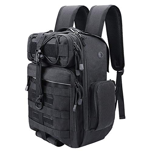 Fyland Tactical Backpack Military EDC Bag Molle Pack, Outdoor Fishing Backpack, Small Rucksack