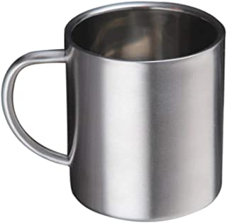 Nrpfell 300Ml Stainless Steel Mug Cup Cup Stainless Steel Double Layer Mug