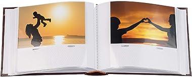 Album Photo Traditionnel pour Photos 10x15 - Album Relié Robuste & Durable pour 100 Photos avec Espace Supplémentaire pou