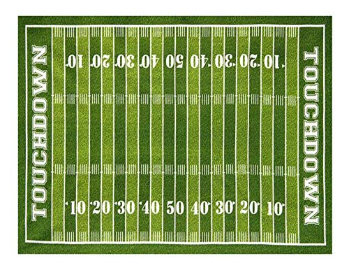 Football Field Edible Icing Image Cake Topper for 1/4 sheet cake