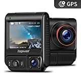 TOGUARD Uber Dual Dash Cam Built-in GPS in Car Driving Recorder 1080P Front and 1080P Cabin Dash Camera IR Night Vision 2' 330° Car Camera with Parking Monitor, WDR, Motion Detection for Car Taxi