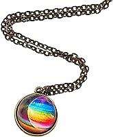 Colgante bola de cristal + galaxia + bandera orgullo arcoíris + LGTBI