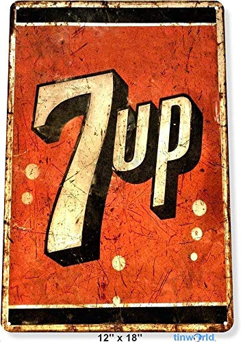 Fluse 7-up Soda Logo Metal Art Ste Cola Cave wld A200 Vintage Metal Art Chic Retro metalen schild 8 x 12 inch