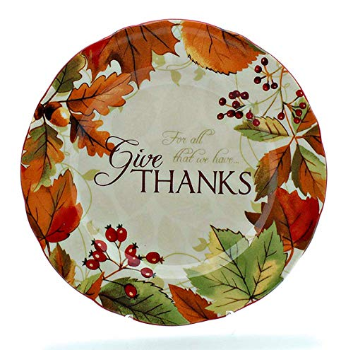 "222 Fifth Harvest Festival Fine China Salad Plates""Give Thanks"" (Set of 4)"