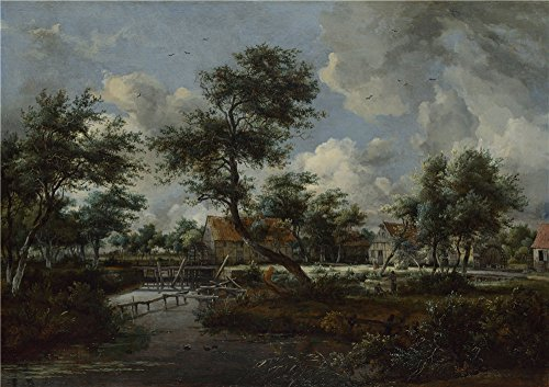 Oil Painting 'Meindert Hobbema The Watermills At Singraven Near Denekamp' 16 x 23 inch / 41 x 58 cm , on High Definition HD canvas prints is for Gifts And Hallway, Kitchen And Powder Room decor, buy