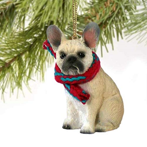 French Bulldog Tiny Miniature One Christmas Ornament Fawn - DELIGHTFUL! by Conversation Concepts