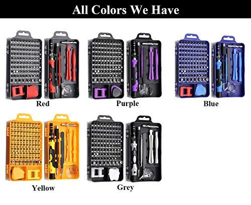 1 Set 115 in 1 Schraubendreher-Set, Präzisions-Schraubendreher-Set, Torx-Schraubendreher, magnetisches Bit-Set für Handy-Reparatur, Sechskant-Schraubendreher-Halter (zufällige Farbe)