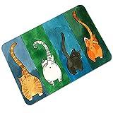 CHOOLD Cute Cat Butt Bedroom Area Rug, Cat Carpet,Cat Tail Non-Slip...