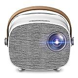Mini Proyector Full HD 1080P para El Cine En Casa, Entretenimiento Familiar, Camping Al Aire Libre Compatible con Audio, AV, USB, HDMI, SD, PS4
